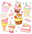 collection animal shaped desserts vector image vector image