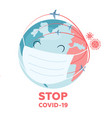 concept health care to stop coronavirus vector image vector image
