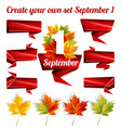 create your own set autumn leaves vector image