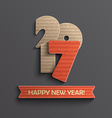 Creative modern happy new year 2017 design vector image vector image