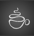 cup of tea or coffee drawn by single vector image vector image