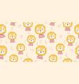 cute cartoon animal seamless pattern vector image vector image