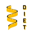 Diet - a symbol of a of a measuring tape vector image vector image