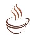 doodle sketch cup steaming hot beverage vector image vector image