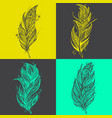 feather icons set of logo design templates vector image vector image