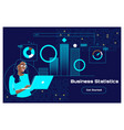 financial planning accounting report spreadsheet vector image vector image