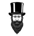 gentleman in vintage hat design element vector image