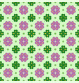 geometric flower and leaves seamless vector image vector image