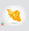 geometric polygonal style map of iran low poly vector image