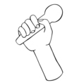 hand with microphone vector image vector image