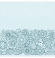 Henna Flowers Mehndi Design seamless vector image