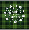 hoppy easter spring greeting card invitation vector image
