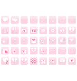 icons for Day of Valentine vector image vector image