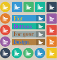 Infographic icon sign Set of twenty colored flat vector image vector image