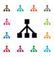 isolated framework icon structure element vector image