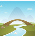 Landscape With Stone Bridge vector image vector image