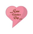love valentines day card heart shape bubble vector image vector image