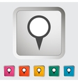 Map pin single icon vector image vector image