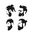 mens hair salon logo vector image