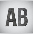 metal letters vector image vector image