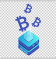 mining bitcoin server icon in isometric style vector image vector image