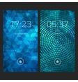 mobile interface wallpaper design set abstract vector image vector image