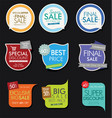 modern sale banners and labels collection 7 vector image vector image
