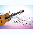 music banner design with acoustic guitar vector image