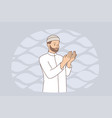 muslim religion and rituals concept vector image