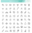 outline web icon set wedding vector image