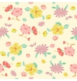 Painterly Pink Yellow Kimono Flowers vector image vector image