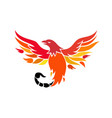 phoenix with scorpion tail icon vector image