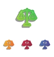 Scales balance sign Colorfull applique icons set vector image