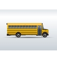 school bus isolated on white background vector image vector image