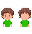 set of boy character vector image