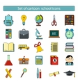 Set of cartoon school icons vector image