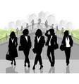 silhouettes of elegant businesswomen vector image