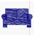 Sofa sign vector image vector image
