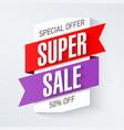 special offer super sale banner design template vector image vector image