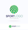 sport logo consisting motion lines vector image vector image