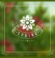 Spring typographic greeting card or poster