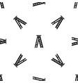 stepladder pattern seamless black vector image vector image