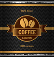 stylish coffee poster vector image