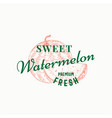 sweet watermelon abstract sign symbol or vector image vector image
