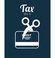 tax icon vector image