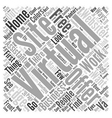 The Virtual Edge Work At Home Success Word Cloud vector image vector image