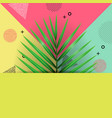 tropical palm leaf macarthurs palm on memphis vector image vector image