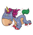 unicorn happy pony vector image vector image