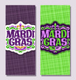 vertical banners for mardi gras vector image vector image