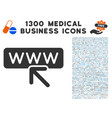 website address icon with 1300 medical business vector image